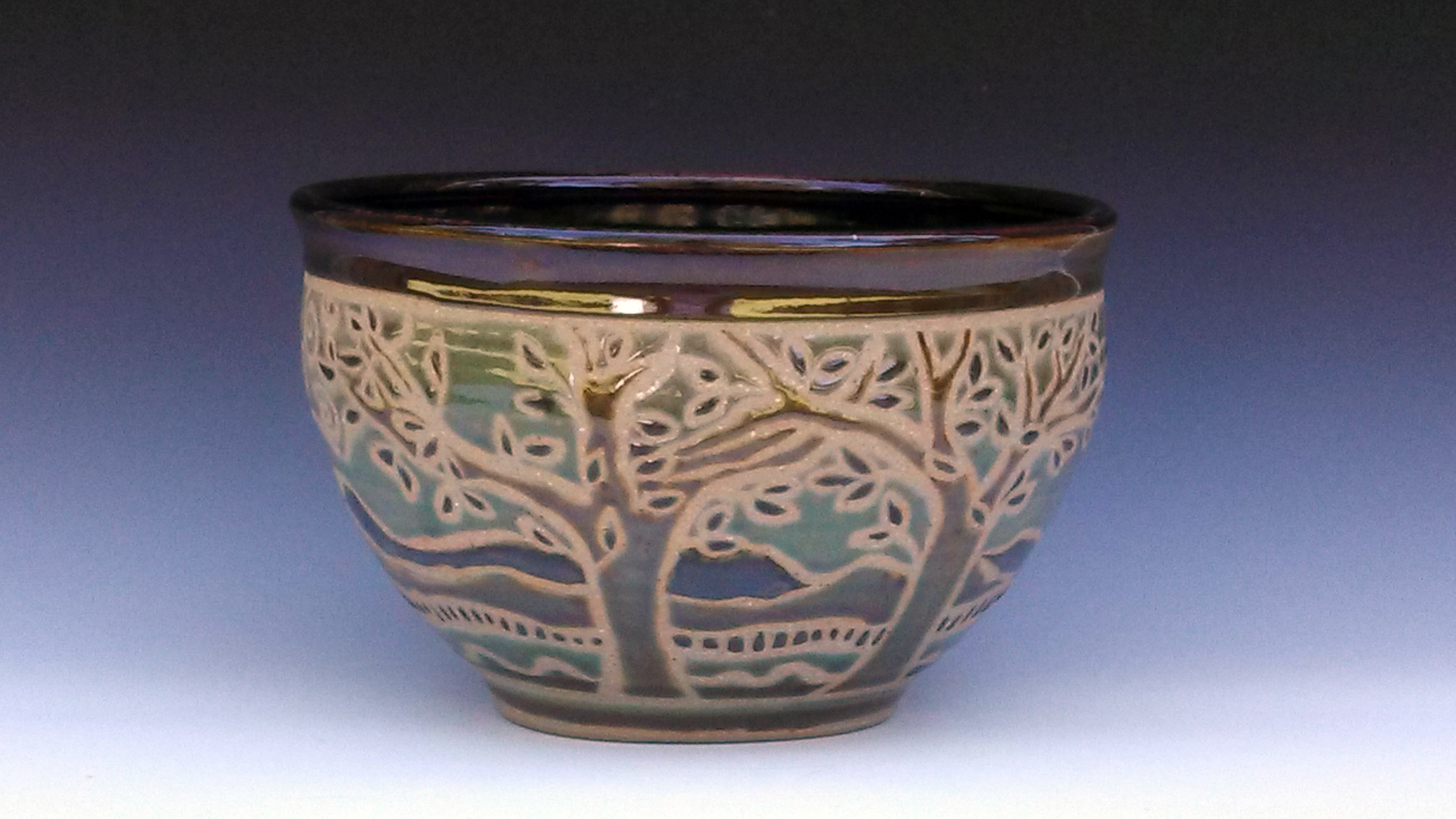 Bowl with Trees