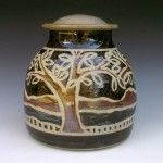 Lamp Base with Trees