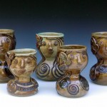 Group of Face Vases