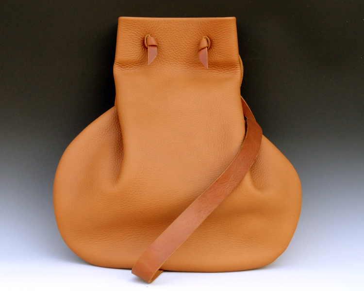 Light Tan Handsewn Cowhide Bag